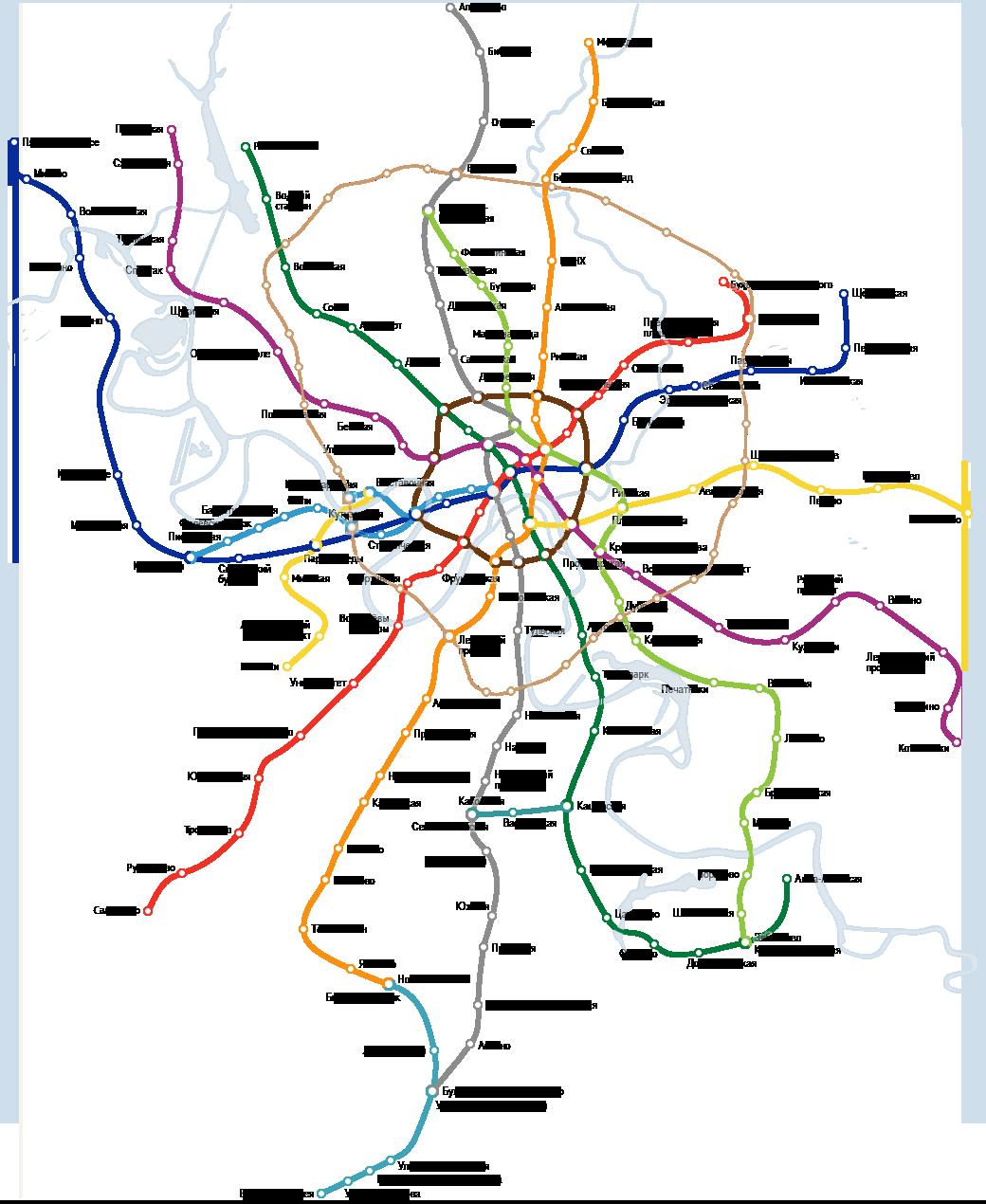 Схема метро аннино на карте